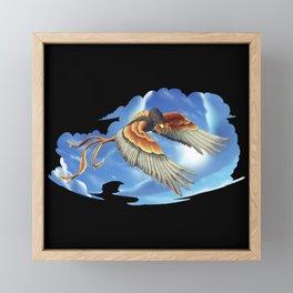 Squid Hawk Creature in the Clouds Framed Mini Art Print