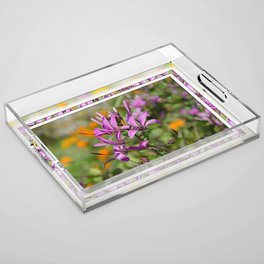 PASTEL PURPLE FLOWER  Acrylic Tray