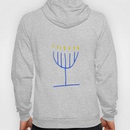 blue menorah,Hanukkah,jewish,jew,judaism,Festival ofLights,feast of Dedication,jerusalem,lampstand Hoody