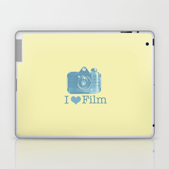 I ♥ Film (Yellow/Blue) Laptop & iPad Skin