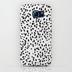 Nadia - Black and White, Animal Print, Dalmatian Spot, Spots, Dots, BW Slim Case Galaxy S7
