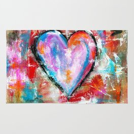 Reckless Heart, Abstract Art Painting Rug