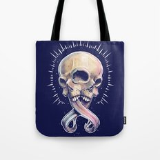 Triple eyed skull Tote Bag