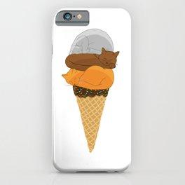 Cat Cream Cone iPhone Case