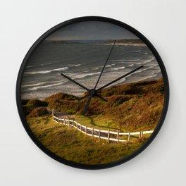 Rhossili bay south Wales Wall Clock