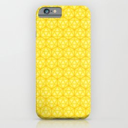 d20 Icosahedron Honeycomb iPhone Case