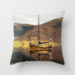 Sailboat Reflections Throw Pillow