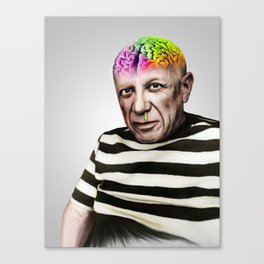 stroke of genius Canvas Print