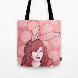 Polka Dot Bunny Tote Bag