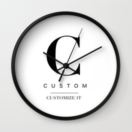 Custom city Wall Clock