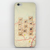 run iPhone & iPod Skins featuring let's run away by shannonblue