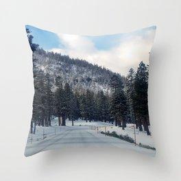 Mammoth Mountain: Scenic Road Throw Pillow