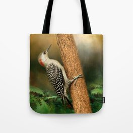 Red Bellied In Search of Food Tote Bag