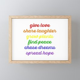 Be Positive Framed Mini Art Print