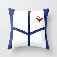 iwatobi Throw Pillows featuring Free Iwatobi Swim Club Team Jacket by Bunny Frost