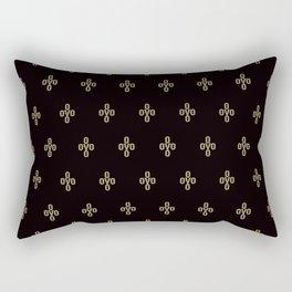Pom Pom - Black Rectangular Pillow