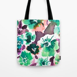 Zoe Floral Sea Green Tote Bag