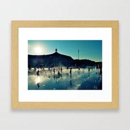 "Bordeaux ""Miroir d'eau"" Framed Art Print"