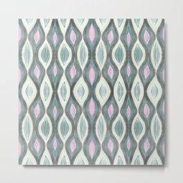 Organic pattern green pink Metal Print