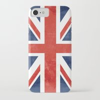 union jack iPhone & iPod Cases featuring Union Jack by Laura Ruth