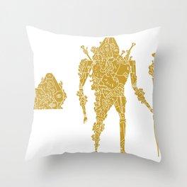 living robotic coral warrior  Throw Pillow