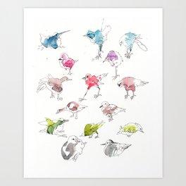 Birds 02 Art Print