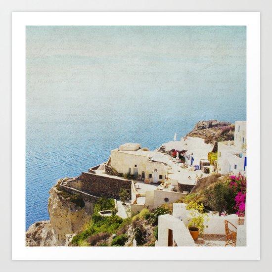 The Cliffside Art Print