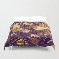 eiffel Duvet Covers featuring Eiffel by adrianperive