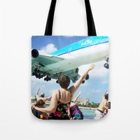 airplane Tote Bags featuring Airplane! by Noah Bolanowski