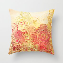 Autumn Rising -- Abstract in Fall Leaf Colors Throw Pillow
