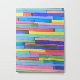 Happy Stripes Metal Print