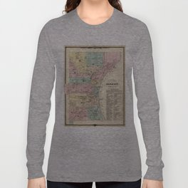 Vintage Map of Milwaukee Wisconsin (1878) Long Sleeve T-shirt