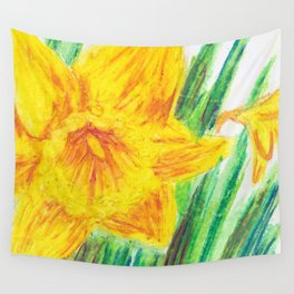 Delightful Daffodils Wall Tapestry