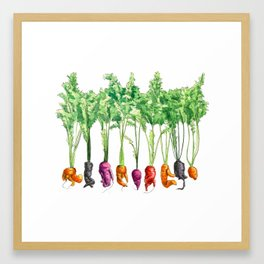 Funky Vegetables Framed Art Print
