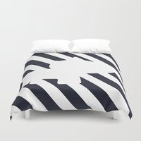 navy Duvet Covers featuring Navy by TT Smith
