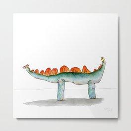 Stegasaurus Metal Print