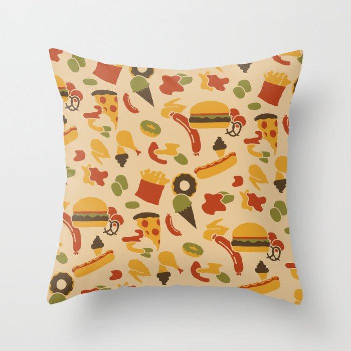 Fast Foodouflage Throw Pillow
