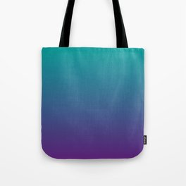 Ombre | Teal and Purple Tote Bag