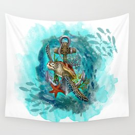 Turtle and Sea Wall Tapestry