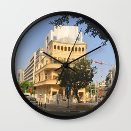 Tel Aviv Pagoda House - Israel Wall Clock