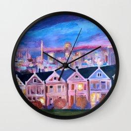 San Francisco - Painted Ladies - Alamo Sq Wall Clock