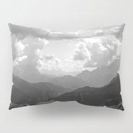 Mountain Ridges and Clouds Alps Alpine Landscape Pillow Sham