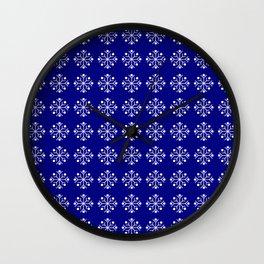snowflake 5 Christmas ornementation Wall Clock