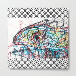 Eye 2 colour Metal Print