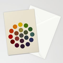 'Parsons' Spectrum Color Chart' 1912, Remake 2 (enhanced) Stationery Cards