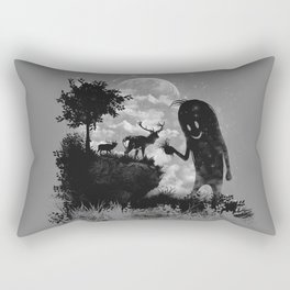 The Friendly Visitor Rectangular Pillow