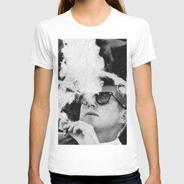 Cigar Smoker Cigar Lover JFK Gifts Black And White Photo T Shirt T-shirt