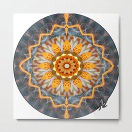 Chalk and Salt Metal Print