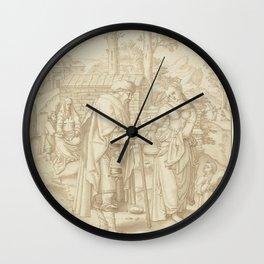 Lucas van Leyden - Abraham verstoot Hagar en Ismaël Wall Clock