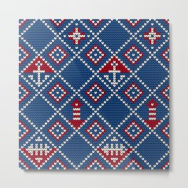 Grandma's knitting pattern for Saylor's Ugly sweater Metal Print